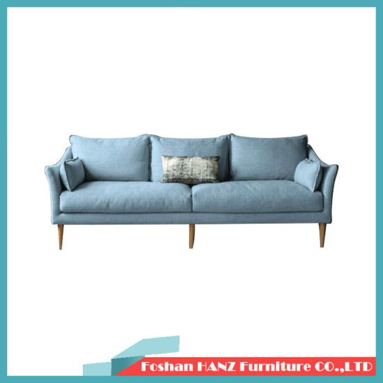 Wholesale Home Furniture Fabric Sofa Wodern Frame Hotel Sofa Couch with Armrest 3 Seater