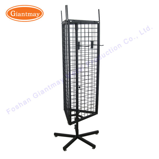 China 40 Sided Metal Wire Shelving Rotating Spinner Turntable Display Cool Spinner Display Stands