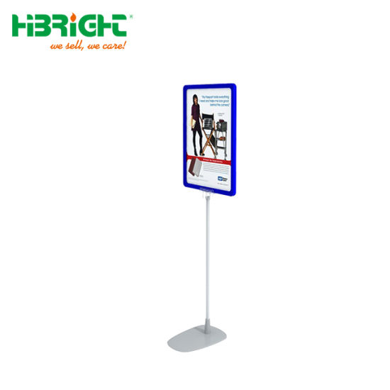 Supermarket Store Advertising Poster Holder Display Plastic Sign Stand with A4 Paper Frame pictures & photos