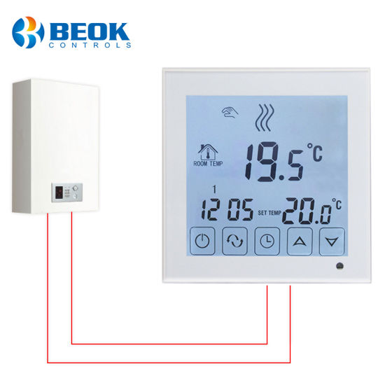 China Touch Screen Room Gas Boiler Thermostat for Water Heating ...