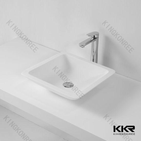 China Special Design White Stone Bathroom Vanity Basin China Wash - Bathroom vanities under usd 200