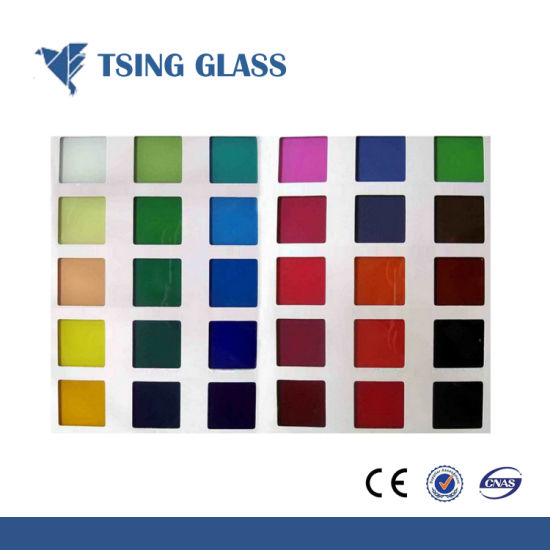 China Painted Glass Ceramic Glass Back Colored Glass For Cabinet