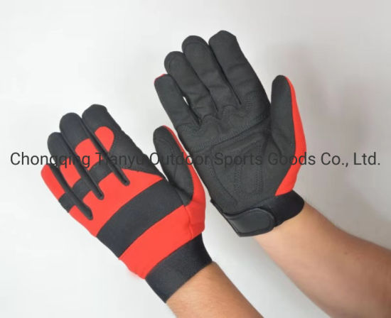 Anti Vibration Work Safety Hand Tools Synthetic Leather Mechanic Gloves