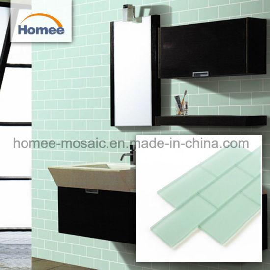 Decorative Bathroom Wall Backsplash Mosaic 3 Inch Subway Glass Tile