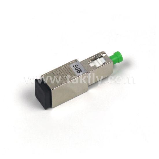 SC//SC Singlemode Fiber Optic Attenuator APC Male//Female 5db