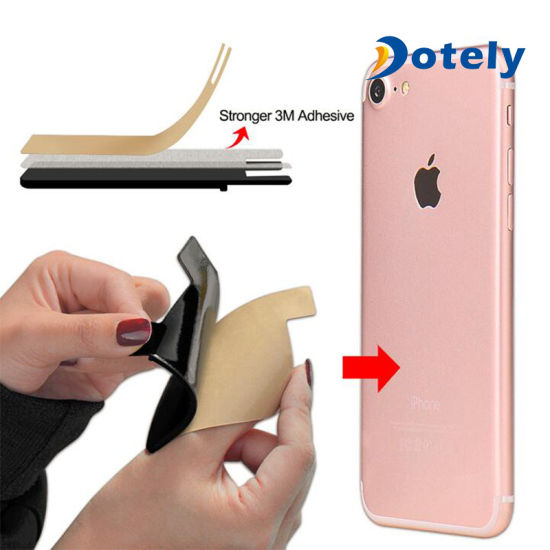 silicone mobile phone card holder adhesive cell phone credit card sleeve - Custom Adhesive Cell Phone Card Holder