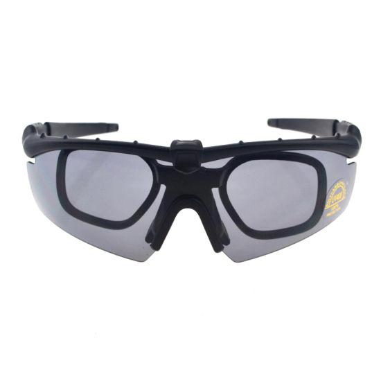 China Myopia Frame Hard PC Changeable Lens Full Set Military Goggles ...