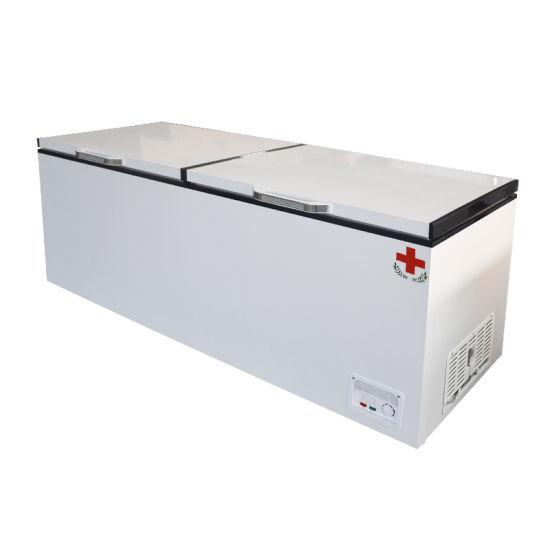 Two Folding Doors Low Temperature Labratory Medicine Storage Pharmacy Vaccine Freezer