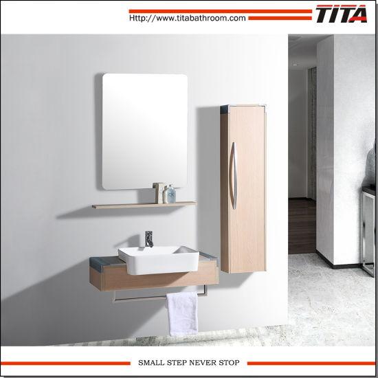 Vneer Plywood Bathroom Furniture Set / Cabinet Bathroom / Hanging Bathroom Cabinets Th9015