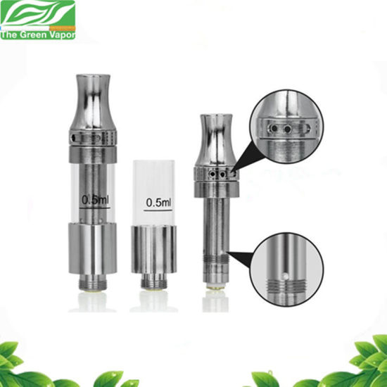 Wholesale Cbd/Thc Oil 0.5ml Top Filling and Adjustable Airflow Ceramic Coil Vape Cartridge V9 pictures & photos