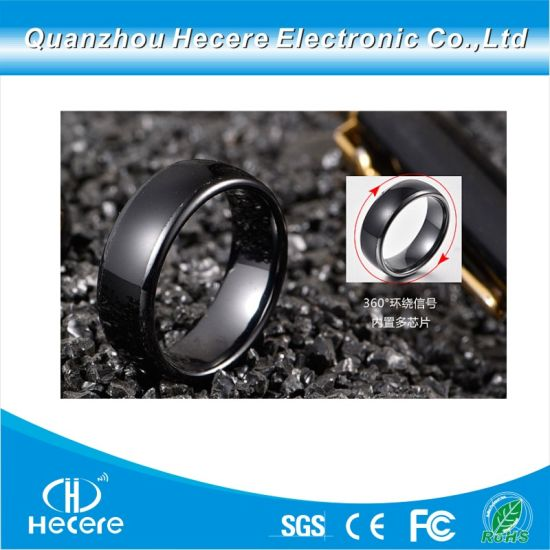 13 56MHz Ntag213 Ceramic NFC Ring Smart Bracelet Ring for Smart Phone