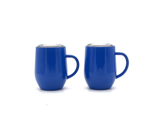 2c33050f38a China 12oz Color Blue Stainless Steel Insulated Egg Shape Wine Cup ...