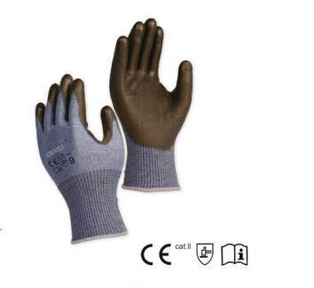 Touch Screen Avaliable Labor Safety 13G Steel Core Yarn Cut Resistant Work Glove with PU Coating