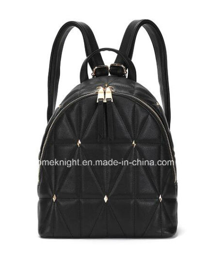 New Arrival Lady Fashion Designer PU Leather Quilting Backpack Handbag  School Bag Casual Bags 484aa9787b01f