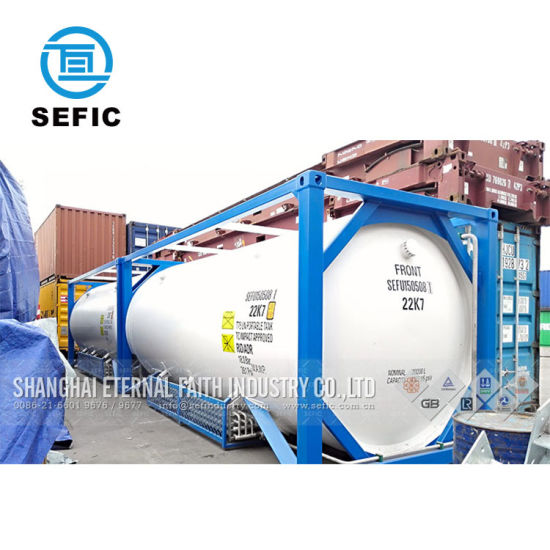 China 40ft 20ft Liquid Gas Storage Used ISO Tank Container SEFIC