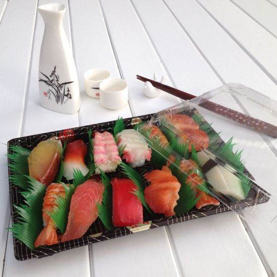 Wholesale Disposable Plastic Container Sushi Take-out Box