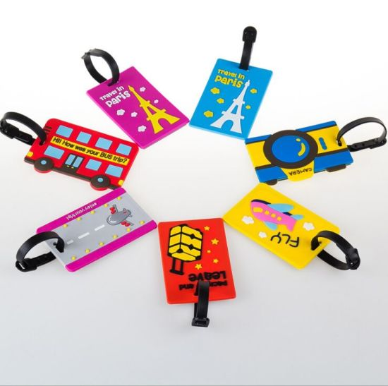 Customized Cartoon Baggage Tag Soft PVC Luggage Tag for Boarding Card pictures & photos