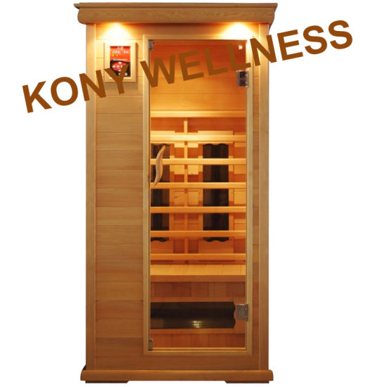 90cm Width Far Infrared Sauna Room Made of Canada Hemlock for 1person