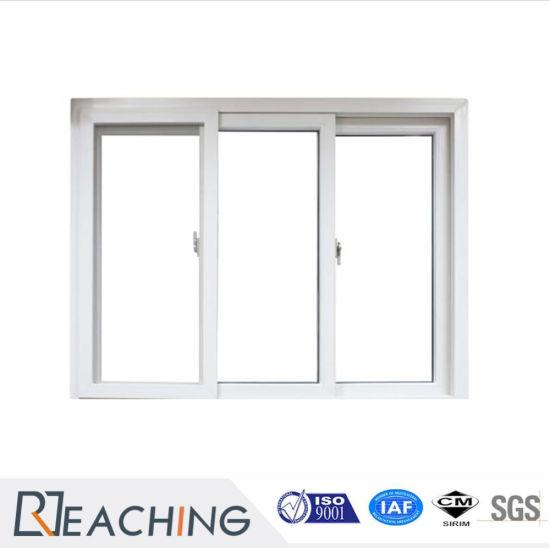 Conch Profile 3 Sash UPVC/PVC Window Plastic Sliding Window for Project