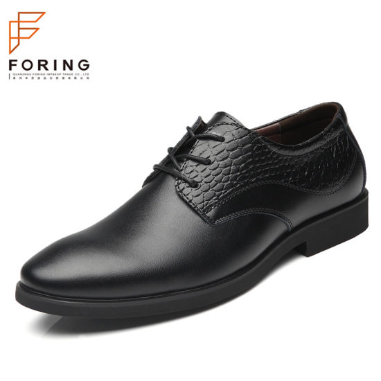 2018 Trending Low Cut Products Waterproof Men Latest Pure Leather Shoes