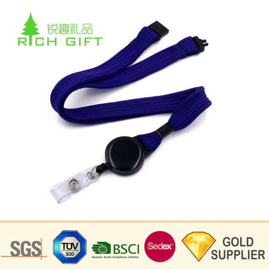 Hot Selling Custom Blank Polyester Sublimation Printing Retractable Mobile Phone Neck Lanyard pictures & photos