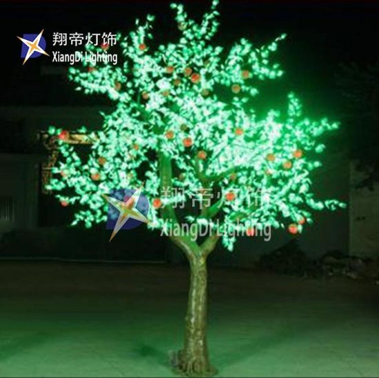 China Green Color Battery Powered Base Mini Led Tree 20ft