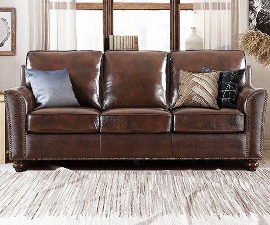 European Chesterfield Leather Sofa