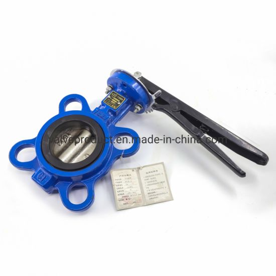 Factory Wholesale Cast Iron/Steel PTFE Seat Flange/Lug/Wafer Butterfly Valve