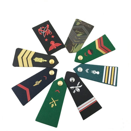 Custom Design Military Uniform Soft Embroidered Epaulette pictures & photos