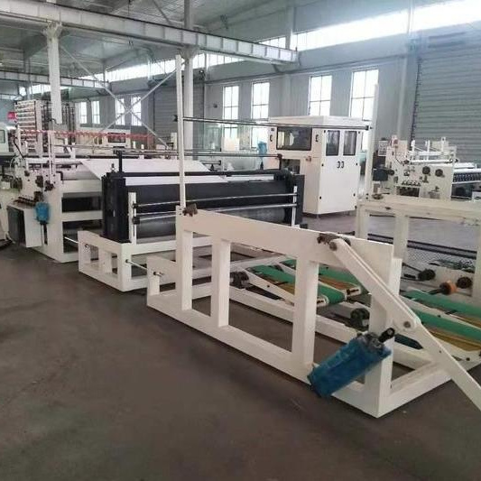 Full Automatic Small Toilet Paper Production Line with Toilet Single Roll Packing Machine