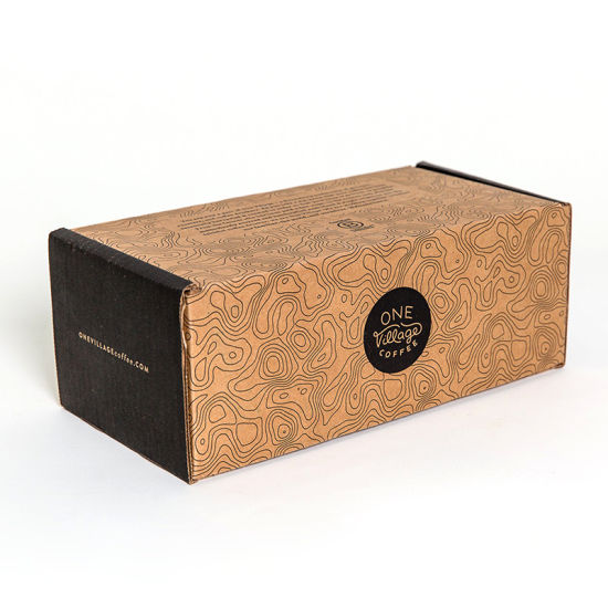 Custom Printed Brown Shoes Mailing Package Portable Paper Box