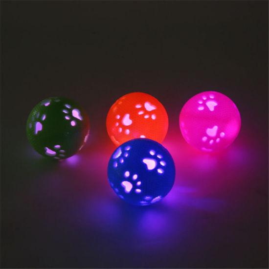 New Style Pet Dog Toy Hollow Bone Luminous Sounding Ball