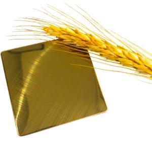 201 3047 316 Grade 8K Gold Colored Polishing Mirror Finish Metal Decorative Stainless Steel Sheet