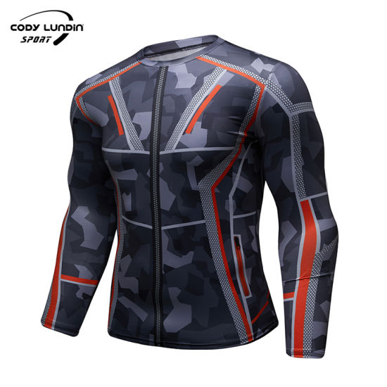Sportswear Manufacturer Sublimation Jiu Jitsu Rashguard Gym Shirts Men