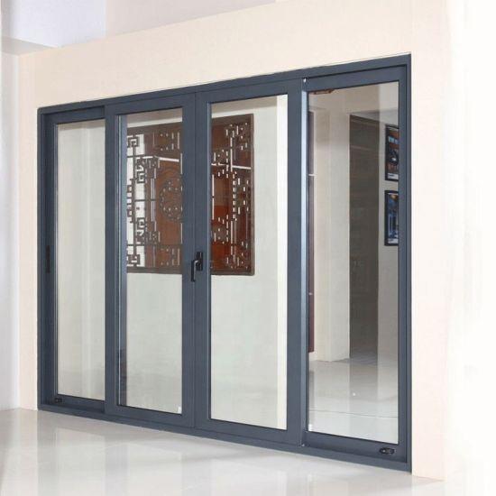 Foshan Factory Aluminum Sliding Doors Aluminum Exterior Entry Sliding Glass Door