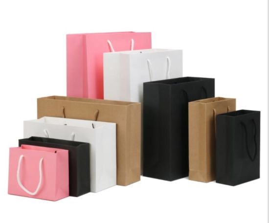 Custom Gift Bag Clothing Shoe Bag Take-Away Bag Handbag Shopping Bag Kraft Paper Bag Printing Logo