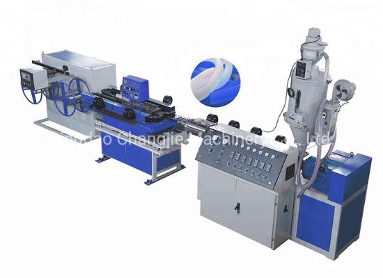 Single Wall Corrugated Pipe Extrusion Line Pipe Manufacturing Machine Plastic Pipe Machine for Sale