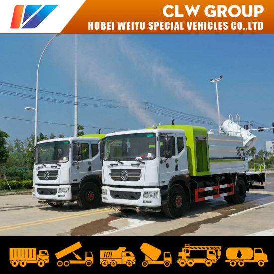 China 10tons Dongfeng Water Mist Disinfectant Sprayer Tanker Vehicle Public Place Sterilization City Disinfection Truck