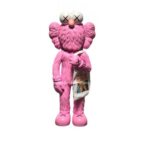 130 Cm Large 4 FT Pink Bff Emio Kaws Original Fake Sculpture for Street Art Display
