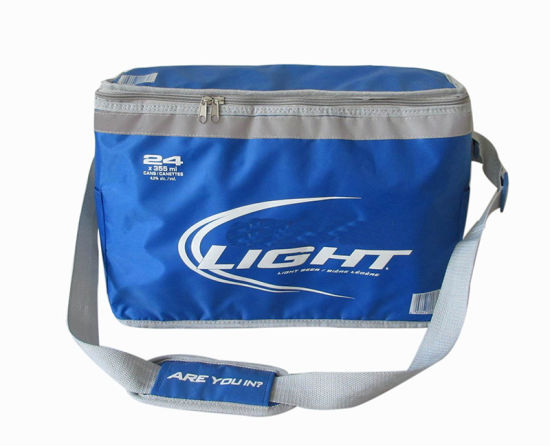 Promotional 24 Cans Beer Cooler Bag with Heat-Seal Waterproof Lining