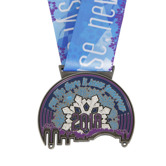 Custom 3D Challenge Match Metal Running Award Sports Souvenir Metal Medal with Ribbons, No MOQ