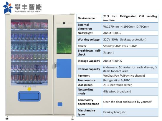 Factory Price Combo Intelligent Cold Beer Juice Soda Beverage Vending Machine with Cash Box