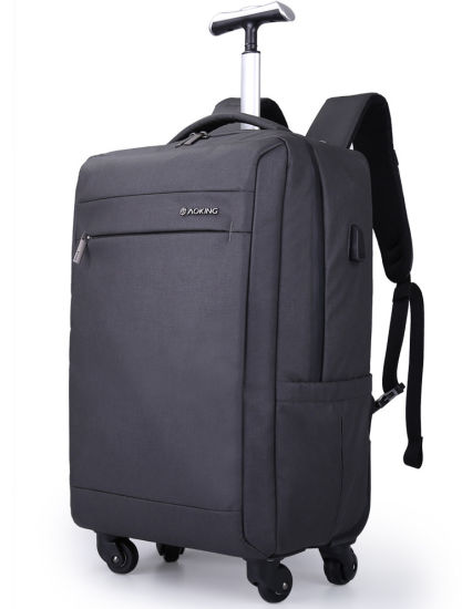 Big Capacity Trolley Wheeled Leisure Business Travel Notebook Computer Laptop Bag Pack Backpack with USB (CY1815)