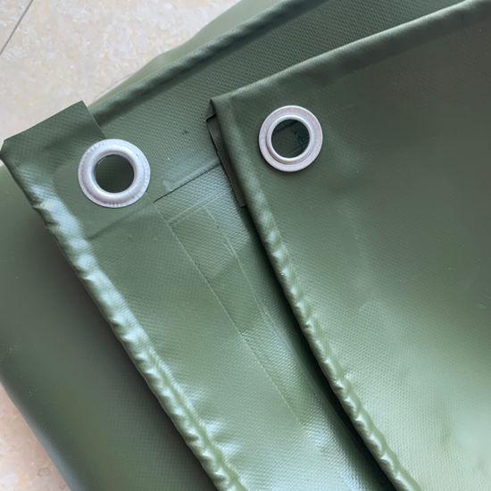 Green Heavy Duty Waterproof Fire Retardant PVC Fabric Viny Coated Tarpaulin Cover Sheet
