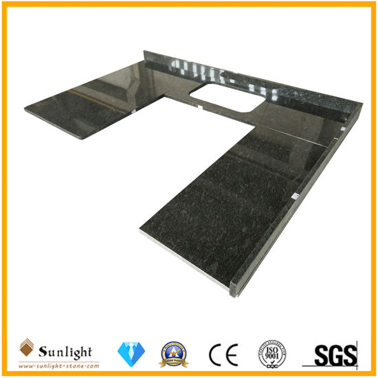 Good Building Material Steel Grey Granite Counter Island Top for Kitchen