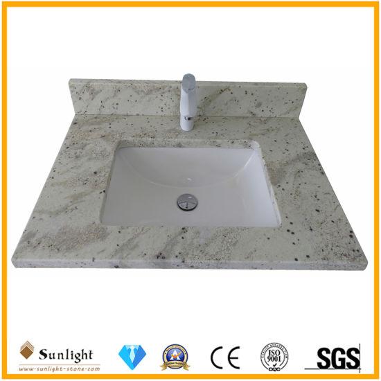 Factory Custom White/Black/Grey/Beige/Blue/Green Granite/Marble/Limestone/Artificial Marble/Quartz Stone Kitchen Bathroom Island/Table/Bar/Counter Vanity Tops