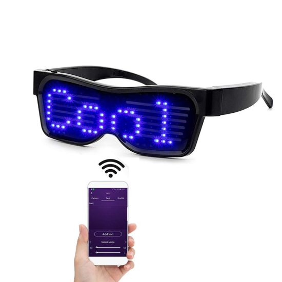 Luminous LED Eye Glasses Technology for Party Event Flashing Magic Bluetooth with APP Control