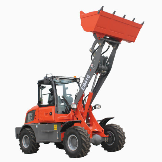 Chinese Everun Er416 CE Approved Agriculture China Compact Front End Articulated Micro Bucket Shovel 1.6ton Mini Construction Equipment Wheel Loader for Sale