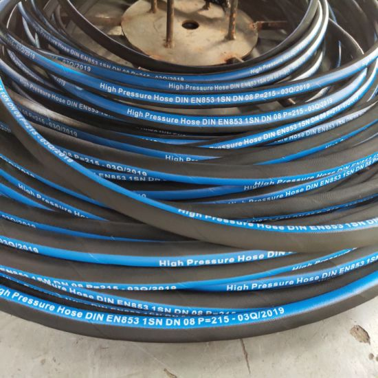 Wholesale 5/16inch DN8mm Nitrile Rubber Hydraulic Oil Resistant Rubber Hose