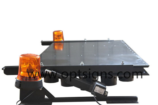 Optraffic ODM Australia Standard Flashing Beacon Actuator Lifting Vehicle Mounted LED Arrowboards, LED Arrowboards pictures & photos